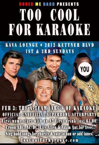 a karaoke flyer