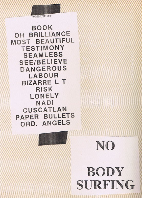 If you saw the 6 inch stage, you'd know why I kept the NO BODY SURFING sign for my scrapbook.