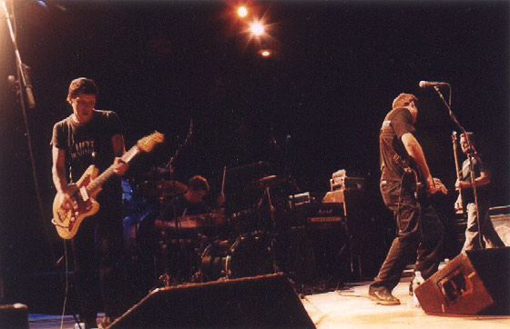 No Knife opening for Jimmy Eat World with the Donnas at SDSU OAT 2002.  Photo by Candace Mandracia