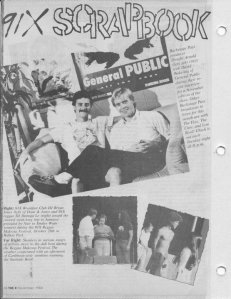 """Dwight Arnold/Dave Wakeling article from the X Magazine. Me singing """"Tenderness"""" onstage with Dave on my 21st birthday was my first time ever singing with a band."""