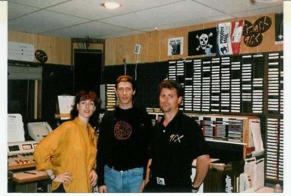 Robin Roth and Dwight Arnold with some guy wearing a baseball hat and blue jeans who surely couldn't be Peter Murphy.  When in Cali!