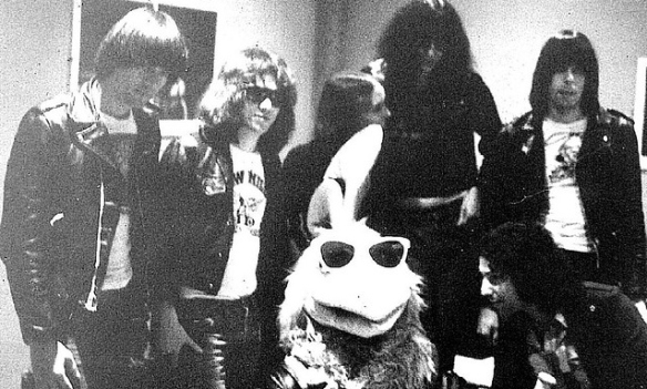 When Rookie Card did a photoshoot with the San Diego Chicken, Ted Giannoulas said one of the coolest things he ever got to do was introduce the Ramones at the Stadium. He couldn't believe I knew that was at the first XFest in 1983. This Chris Stokes photo was taken at the Backdoor at SDSU in 1979 when he was still the KGB Chicken.