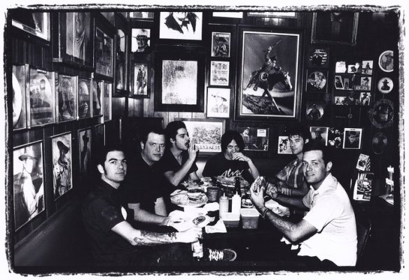 Waynes' world. Mocha Joe Camacho knew it was the Longhorn Cafe & Saloon whose name was eluding me but the whole time I was there I couldn't remember what band I'd seen posing with all the Dukes.  Well, look what I just found. Thanks, Swami. Group Sounds era, photo by Shigeo Kikuchi
