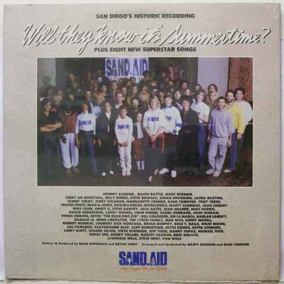 "In May of 1985, 91X assembled a random group of musicians, politicians, radio & tv personalities and even Ultravox's Midge Ure to rewrite and record Band Aid's ""Do They Know It's Christmas?"" as ""Will They Know It's Summertime"".  The song was released on a charity album along with songs by locals the Monroes, Number One & The Best Boys, Mojo Nixon, The Seventh, Bobby Volare, Marty Eldridge and more. The station did a radiothon for African famine relief anthem and raised $111,672 according to an LA Times article (link below)."