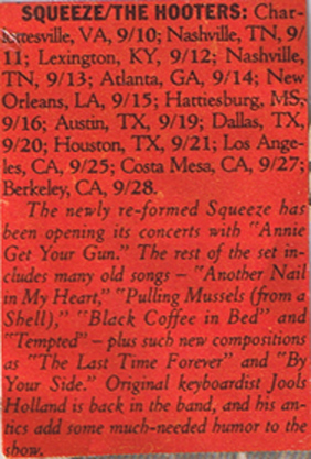 Greatest marquee bill...EVER (from 1985 Rolling Stone)