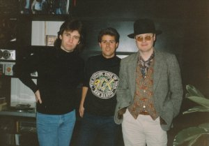 Colin & Andy from XTC with Dwight Arnold