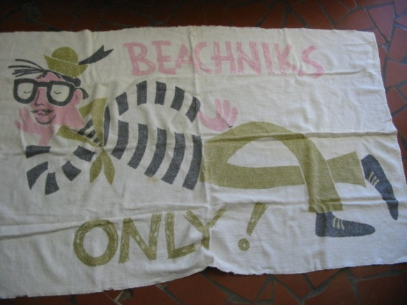 Beatnik beach towel