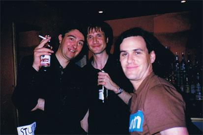 Pat, Max, chins. 12 Bar, London, August 1999.