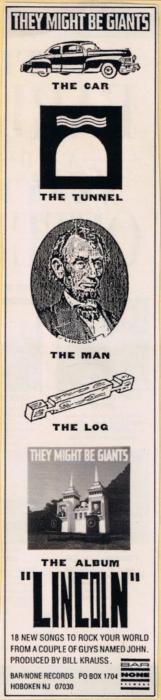 TMBG Lincoln ad