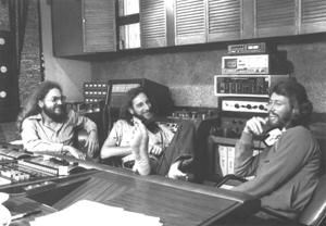Criteria recording engineer and producer Karl Richardson, Albhy Galuten, Barry Gibb