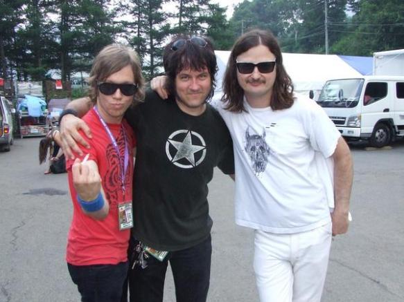 Jason, Eric, Steve, Steve's moustache. Fuji Rock 2008