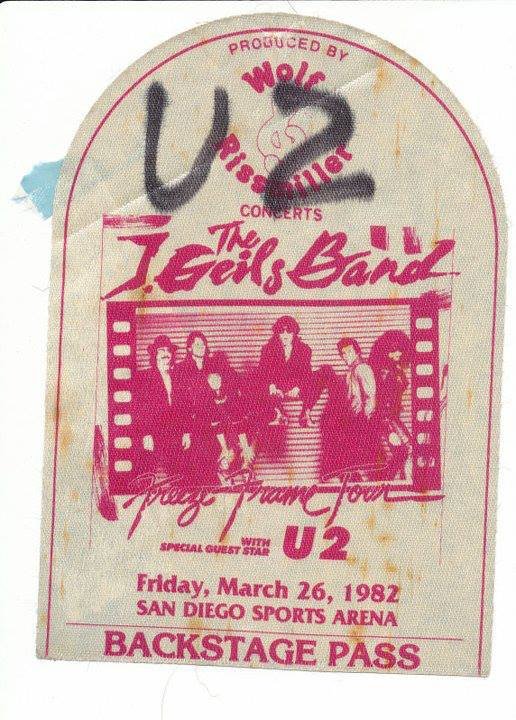 """Backstage pass c/o 91X's Dwight Arnold. I don't really remember buying in when MTV showed them in the snow every hour but when Under A Blood Red Sky came out, they became my favorite band for a year or so there. Bought all the albums, import EP's, the whole bit. But my mom wouldn't let me see them when they came through on the Unforgettable Fire tour because of something called Passover. I immediately renounced my Judiaism...for a Christian band. Ugh. Then I realized I was too much of a goof to love all that earnestness. I saw Rattle & Hum in the theater and was glad to see they had a sense of humor. Little did we know how much they'd embrace irony within a few years.  I remember trying to call Ticketmaster for an hour trying to see them on the first Zoo TV tour. Dial. Busy. Click. Redial. Busy. Click. Redial...no dice. Classmate Dave Kaplan was able to get us some cheap, mediocre seats at Anaheim Stadium on the outdoor tour and it was quite a sight with all the cars and lights and tv's. When I was in London for a few days in my last summer before graduating college, I managed to miss Reading Festival by two weeks AND U2 Wembley shows on consecutive weekends. They left their stage up on their off nights and I saw it when I took a tour of the stadium. To be in England...in the summertime...close to the Edge...but not quite. As I had to leave my hostel the morning of the show, a cute blonde from Pennsylvania walked in and said """"Is anyone going to the U2 show?"""" Seriously?!"""
