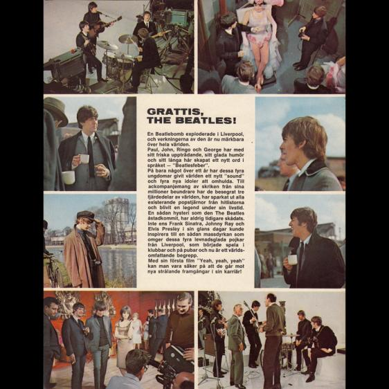 1964  A Hard Day's Night -YEAH ! YEAH ! YEAH ! Sweden - 21cm-27cm - Programme - 3