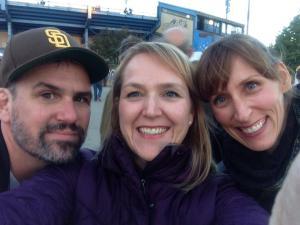Exterior stadium selfie with Stillwater VIP's and stellar bald head photobomb