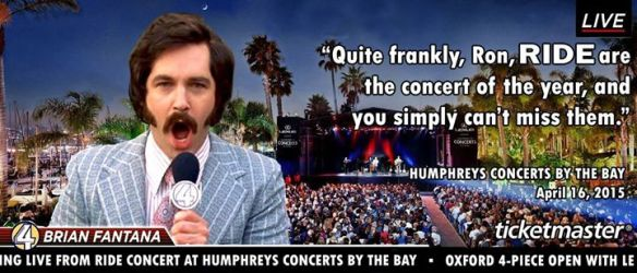 Still can't believe the band posted this Anchorman homage for their San Diego show on Facebook
