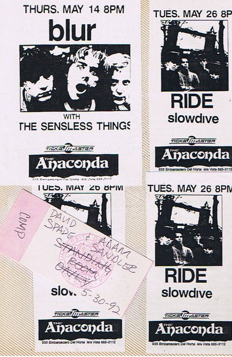 Ride played with the Pale Saints at UCSD  in my hometown that month where I went and saw two up and coming Saturday Night Live cast members.  Wonder what ever happened to those two.