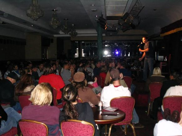 Comedian Robert Lariviere at the Comedy Palace