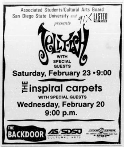 Jellyfish Inspiral Carpets SDSU Backdoor 1991
